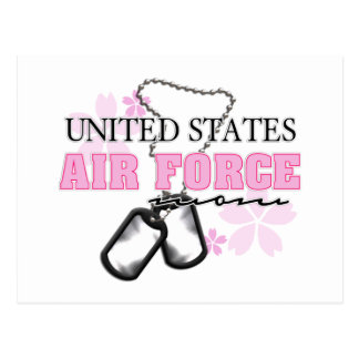 Air Force Mom flowers Postcard