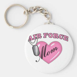 Air Force Mom Heart N Dog Tag Keychain