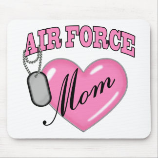 Air Force Mom Heart N Dog Tag Mouse Pad