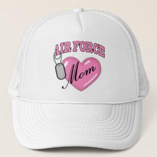 Air Force Mom Heart N Dog Tag Trucker Hat