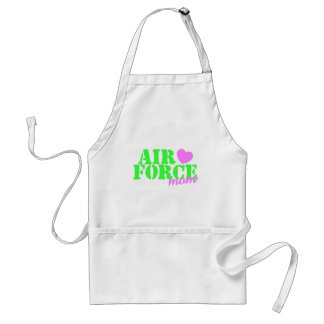 Air Force Mom Lime Green Adult Apron