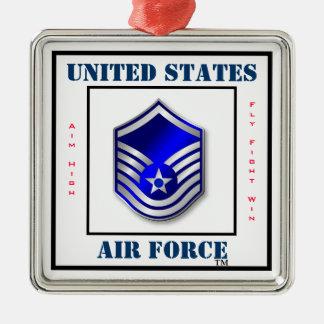 Air Force MSgt - E-7 Metal Ornament
