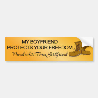 (Air Force) My Boyfriend Protects Your Freedom Bumper Sticker