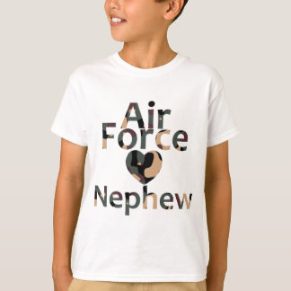 Air Force Nephew Heart Camo T-Shirt