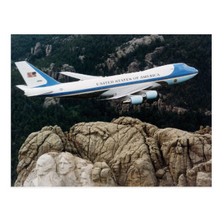 Air Force One over Mt. Rushmore Postcard