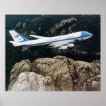 Air Force One sobre el monte Rushmore Impresiones