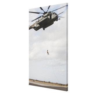 Air Force pararescuemen conduct a combat insert 2 Canvas Print