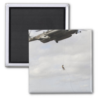 Air Force pararescuemen conduct a combat insert 2 2 Inch Square Magnet