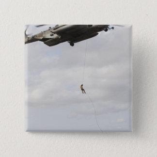 Air Force pararescuemen conduct a combat insert 2 Pinback Button