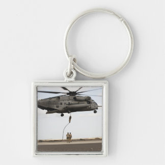 Air Force pararescuemen conduct a combat insert 3 Keychain