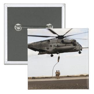 Air Force pararescuemen conduct a combat insert 3 Pinback Button