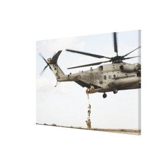 Air Force pararescuemen conduct a combat insert 4 Canvas Print