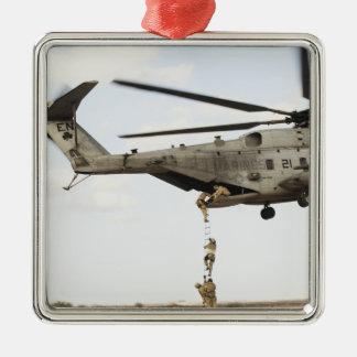 Air Force pararescuemen conduct a combat insert 4 Metal Ornament