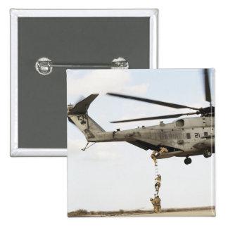Air Force pararescuemen conduct a combat insert 4 Pinback Button