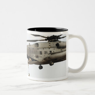 Air Force pararescuemen conduct a combat insert 4 Two-Tone Coffee Mug