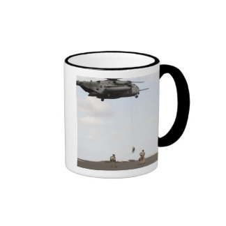Air Force pararescuemen conduct a combat insert Mug
