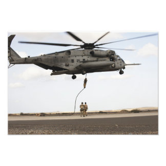 Air Force pararescuemen conduct a combat insert Photo Print