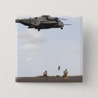 Air Force pararescuemen conduct a combat insert Pinback Button
