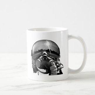 Air force Pilot Helmet  and mask Coffee Mug