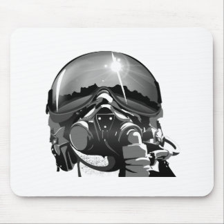 Air force Pilot Helmet  and mask Mouse Pad