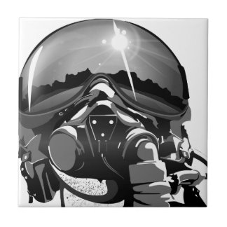 Air force Pilot Helmet and mask Tiles