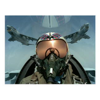 Air Force pilot Post Card
