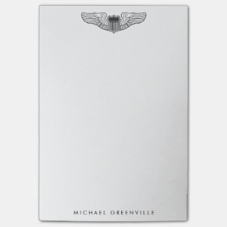 Air Force Pilot Wings with Custom Text Post-it® Notes