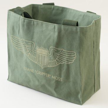 USA Themed Air Force Pilot Wings with Custom Text Tote