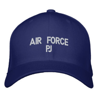 air force pj embroidered baseball hat