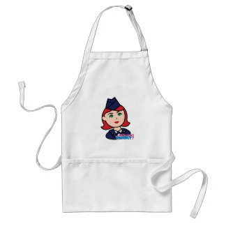 Air Force Red Head Adult Apron