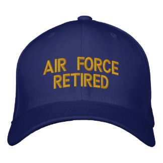 Air Force retired cap embroidered