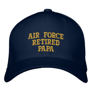 Air Force retired Papa embroidered cap Embroidered Hat