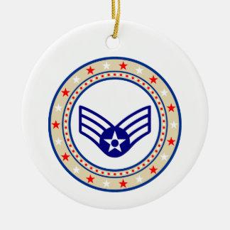 Air Force Senior Airman SrA E-4 Ceramic Ornament
