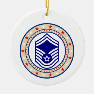 Air Force Senior Master Sergeant E-8 SMSgt Ceramic Ornament