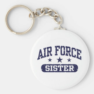Air Force Sister Basic Round Button Keychain