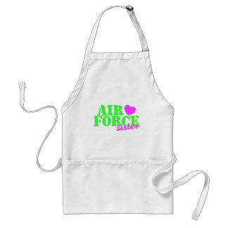 Air Force Sister Lime Green Adult Apron
