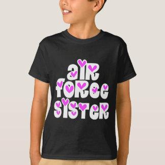 Air Force Sister Pink Hearts T-Shirt