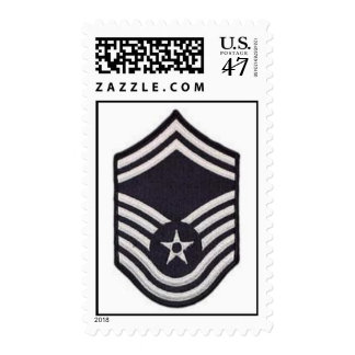 Air Force SMSgt Chevron Stamp