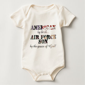 Air Force Son Grace of God Baby Bodysuit