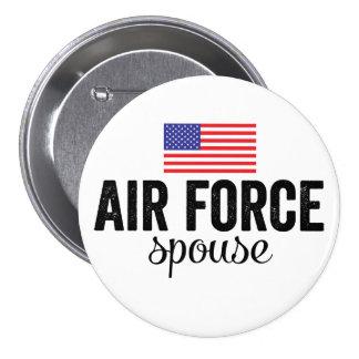 Air Force Spouse American Flag Button