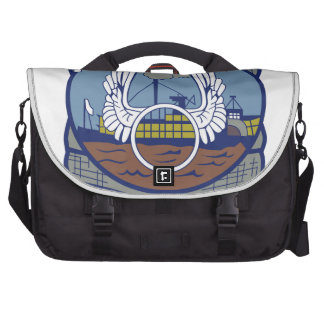 Air Force Squadron Patches  Flying  Tigers  Surplu Bag For Laptop