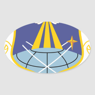 Air Force SSI 460th Space Wing Oval Sticker