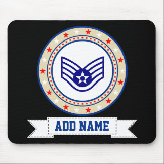 Air Force Staff Sergeant E-5 SSgt Mouse Pad