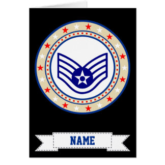 Air Force Staff Sergeant SSgt E-5 Card
