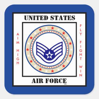 Air Force Staff Sergeant SSgt E-5 Square Sticker
