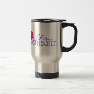 Air Force Sweetheart 15 Oz Stainless Steel Travel Mug