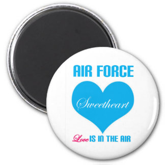 Air Force Sweetheart Love Is In The Air 2 Inch Round Magnet