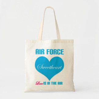 Air Force Sweetheart Love Is In The Air Canvas Bag