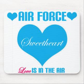Air Force Sweetheart Love Is In The Air Mouse Pad