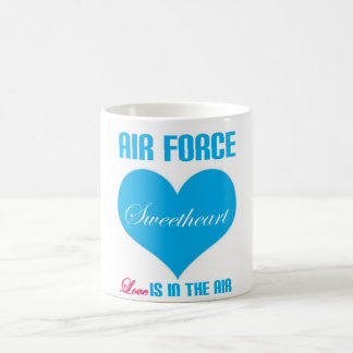 Air Force Sweetheart Love Is In The Air Classic White Coffee Mug